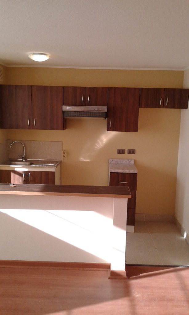 Proyecto cocina departamento mural muebles adecor for Cocina departamento